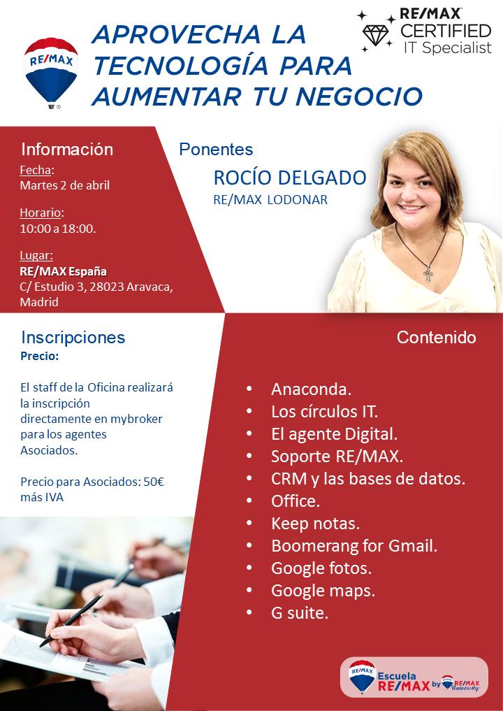 Curso aprovecha la tecnología. Escuela Remax España