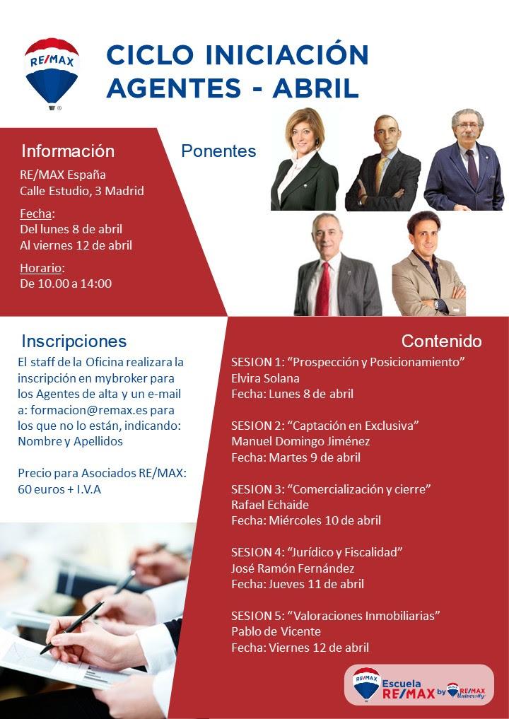 Escuela REMAX España. Curso de inicición abril