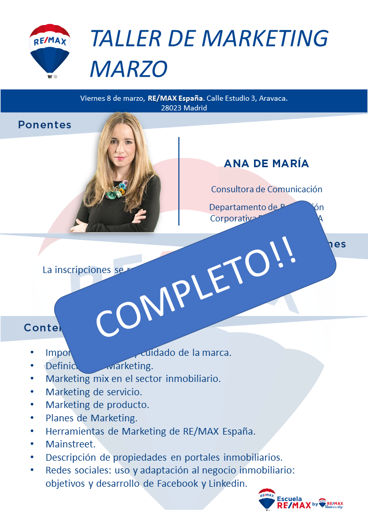 taller de marketing REMAx España