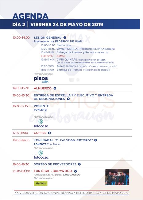 Agenda 24 de mayo