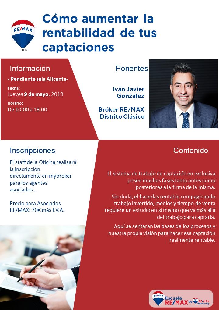 Cómoa umentar la rentabilidad de tus captaciones Alicante