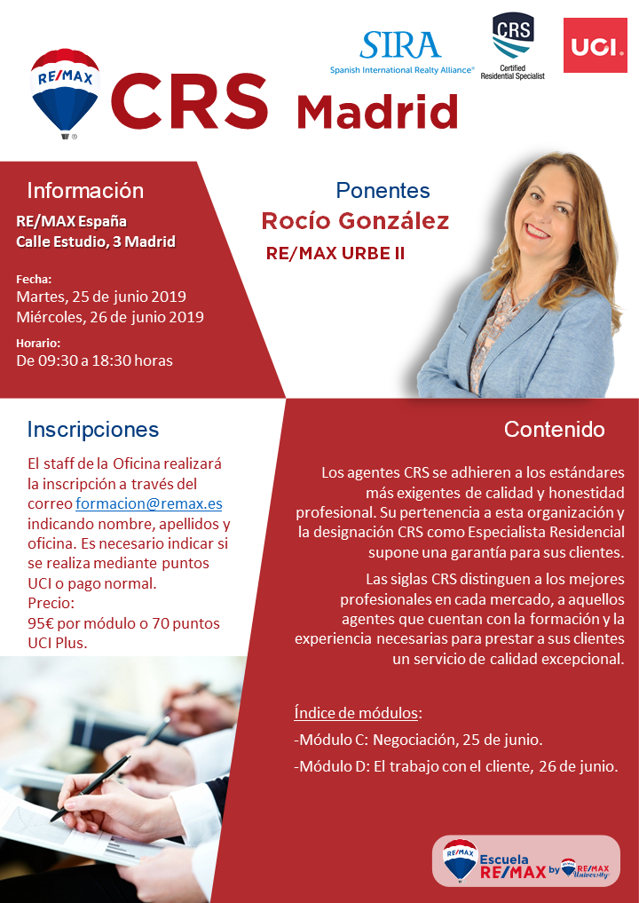 escuela REMAX CRS Madrid