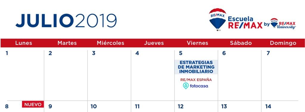 Mes De Julio Calendario.Save The Date Prevision Calendario De Formaciones Escuela