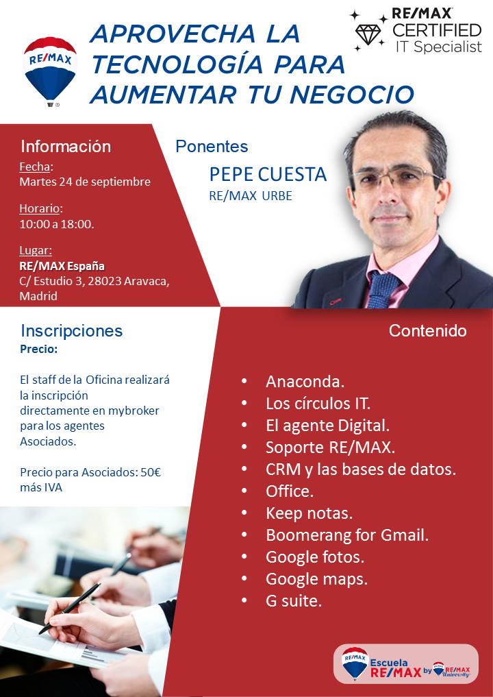 Aprovecha la tecnología para aumentar tu negocio. Madrid