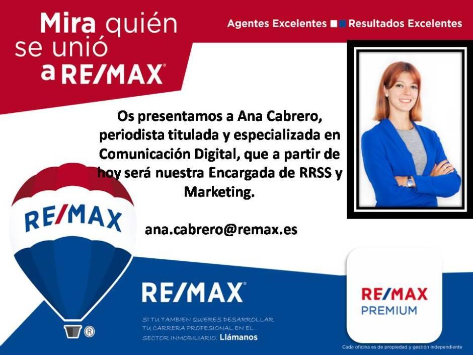 Presentación Ana Cabrero, REMAX Premium