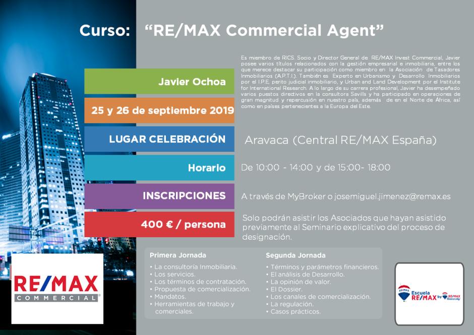Remax commercial agent 25 y 26 de septiembre