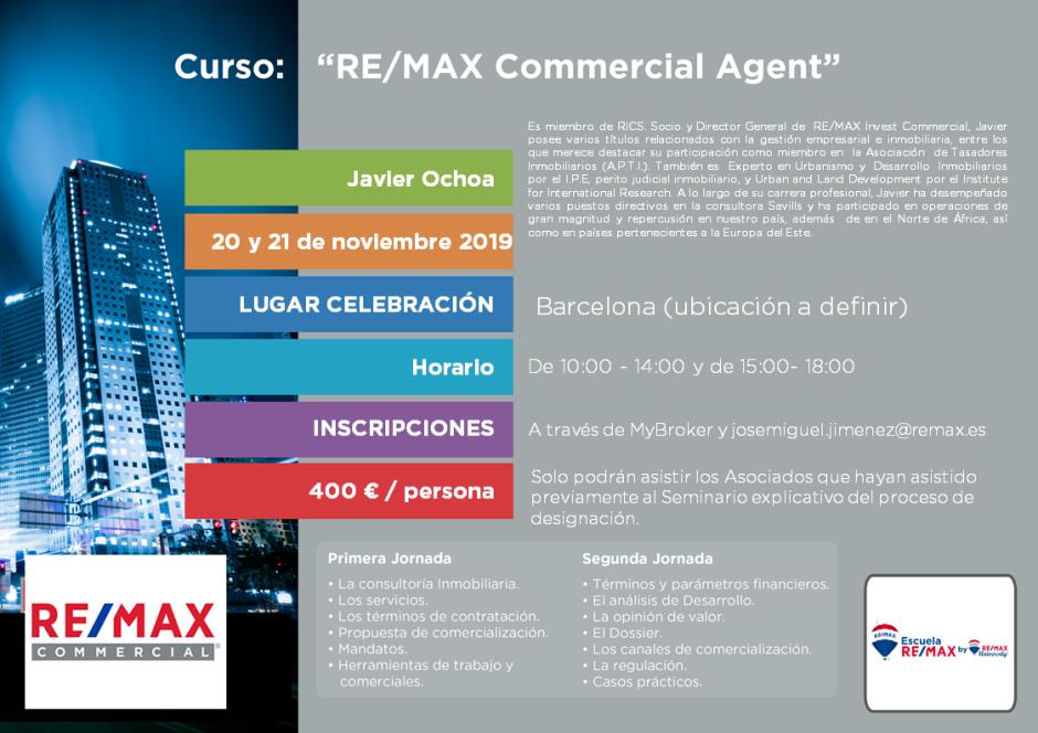 Commercial Agent 20 y 21 de noviembre