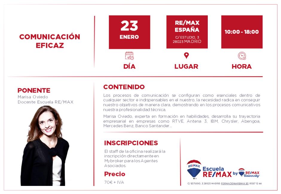 COMUNICACIÓN EFICAZ - MADRID - ENERO 2020