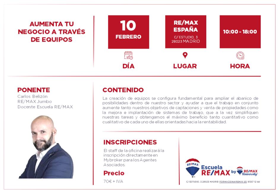 CREACIÓN DE EQUIPOS - MADRID - FEBERO 2020