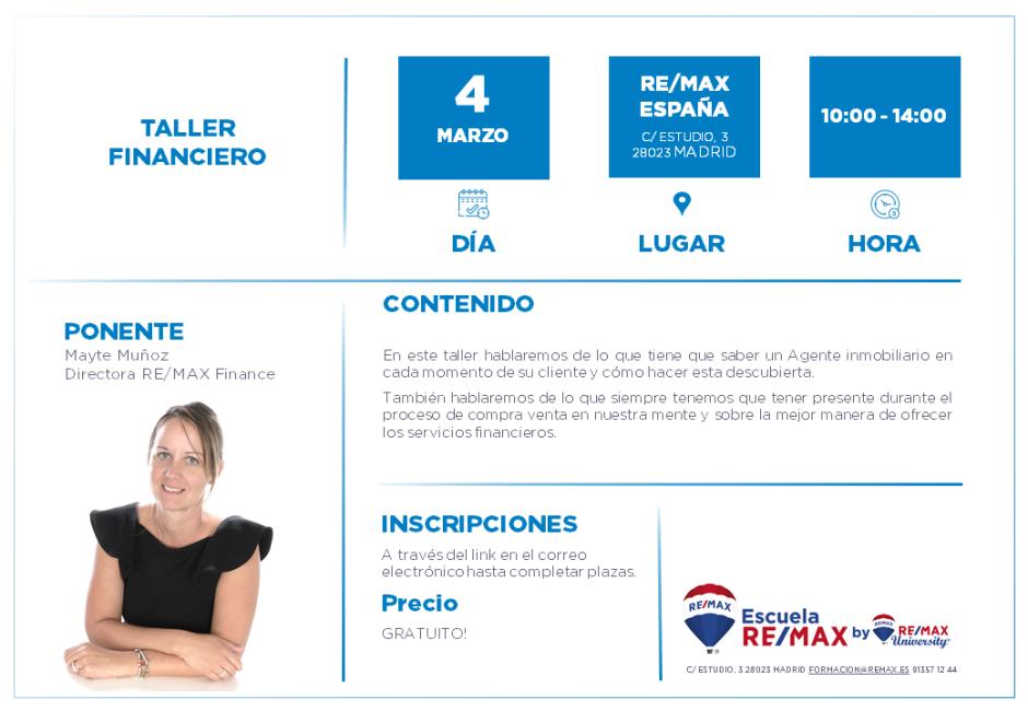 BOCETO TALLER FINANCIERO - MADRID - MARZO 2020