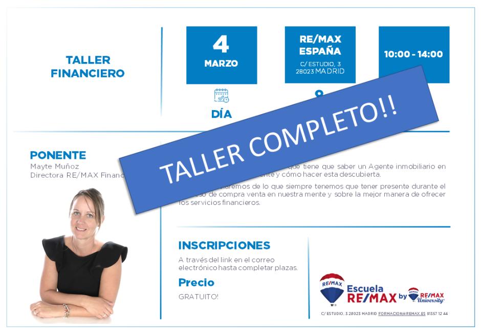 TALLER FINANCIERO - MADRID - MARZO 2020 COMPLETO