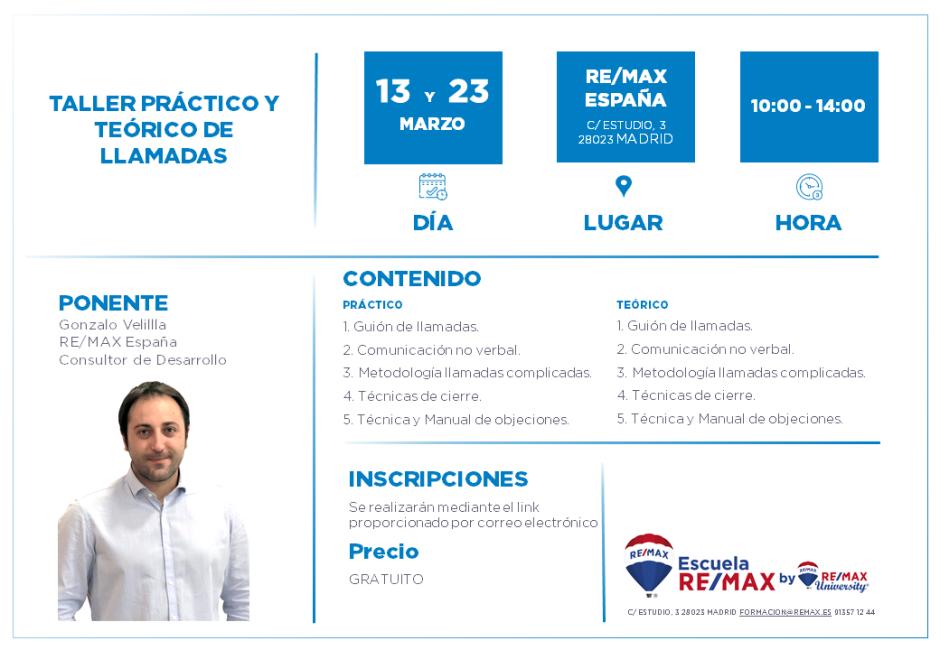 TALLER PRÁCTICO DE LLAMADAS - MARZO 2020