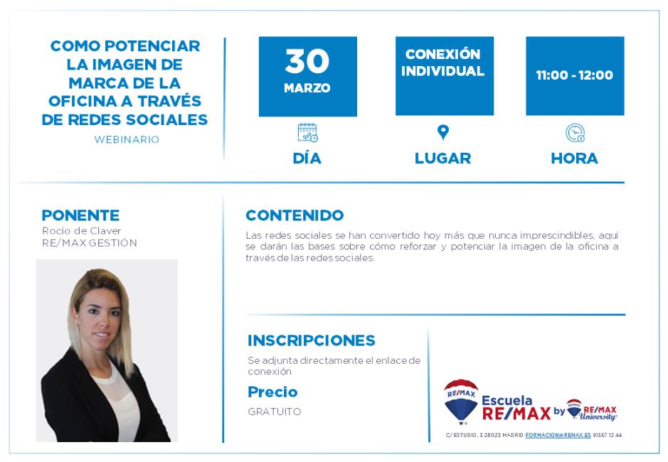 COORDINADORES - COMO POTENCIAR LA IMAGEN DE MARCA DE LA OFICINA A TRAVÉS DE REDES SOCIALES- ROCIO DE CLAVER - 30 MARZO (1)