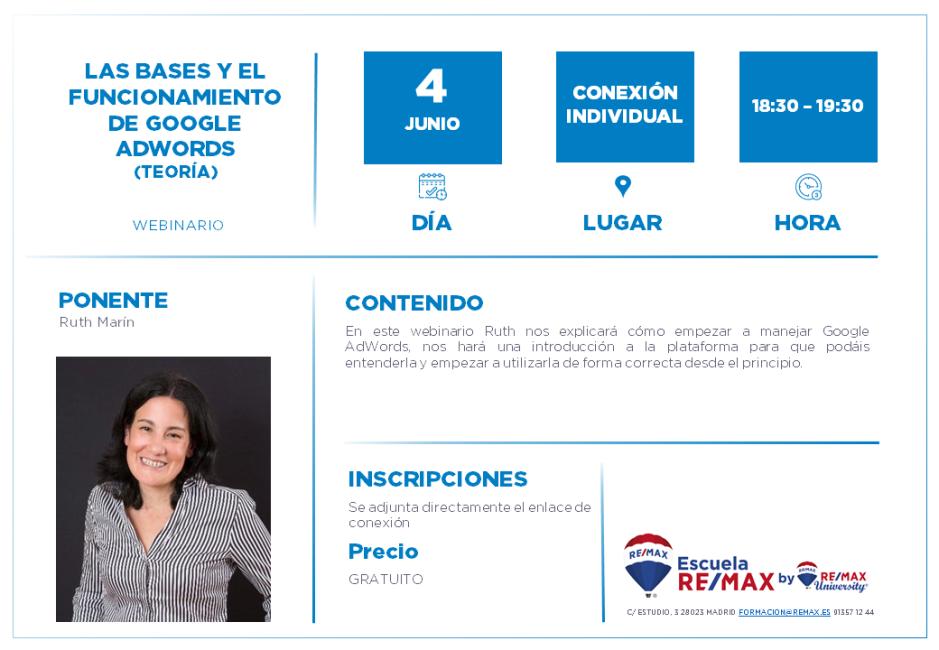 LAS BASES Y EL FUNCIONAMIENTO DE GOOGLE ADWORDS - RUTH MARIN - 4 JUNIO