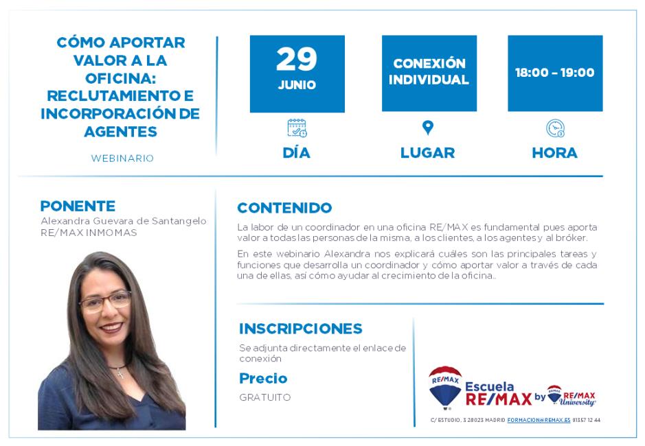COMO APORTAR VALOR A LA OFICINA - ALEXANDRA GUEVARA - 29 JUNIO