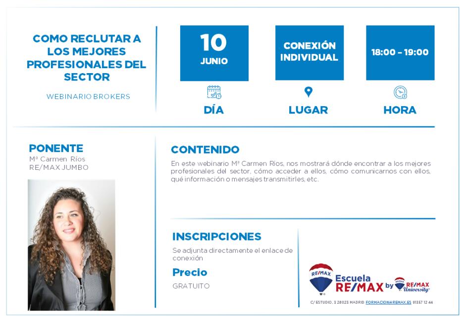 COMO RECLUTAR A LOS MEJORES PROFESIONALES DEL SECTOR - MARI CARMEN RÍOS - 10 JUNIO
