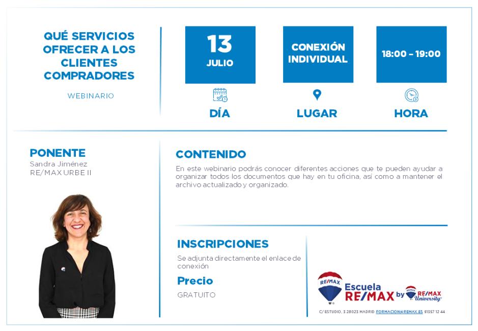 AGENTES - QUÉ SERVICIOS OFRECER A LOS CLIENTES COMPRADORES - 13 JULIO - SANDRA JIMENEZ (1)