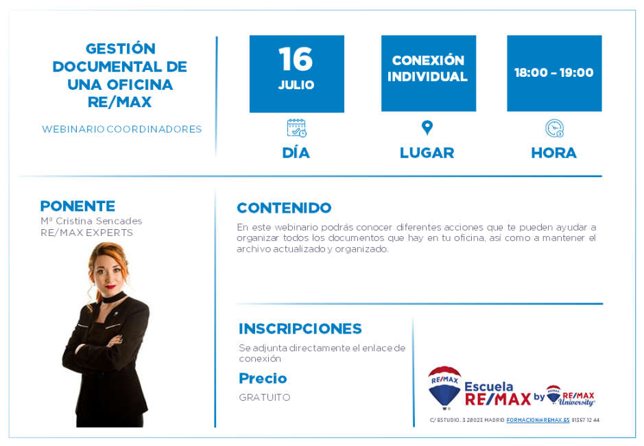 COORDINADORES - GESTIÓN DOCUMENTAL DE UNA OFICINA REMAX - 16 JULIO - CRISTINA SENCADES (1)