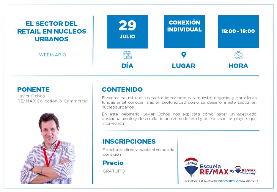 EL SECTOR DEL RETAIL EN NUCLEOS URBANOS - JAVIER OCHOA - 29 JULIO 2020
