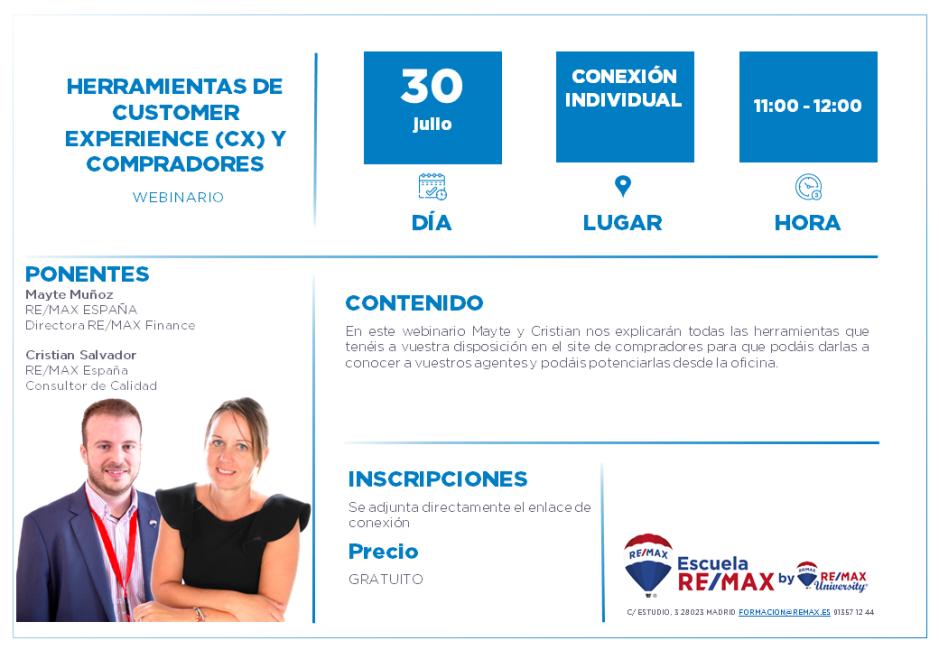 HERRAMIENTAS DE CUSTOMER EXPERIENCE (CX) Y COMPRADORES - MAYTE Y CRISTIAN - 30 JULIO 2020