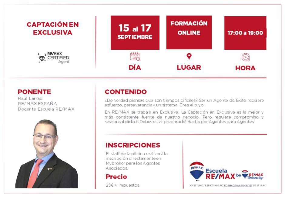 CAPTACIÓN EN EXCLUSIVA - RAÚL LARRAD - septiembre tarde 2020