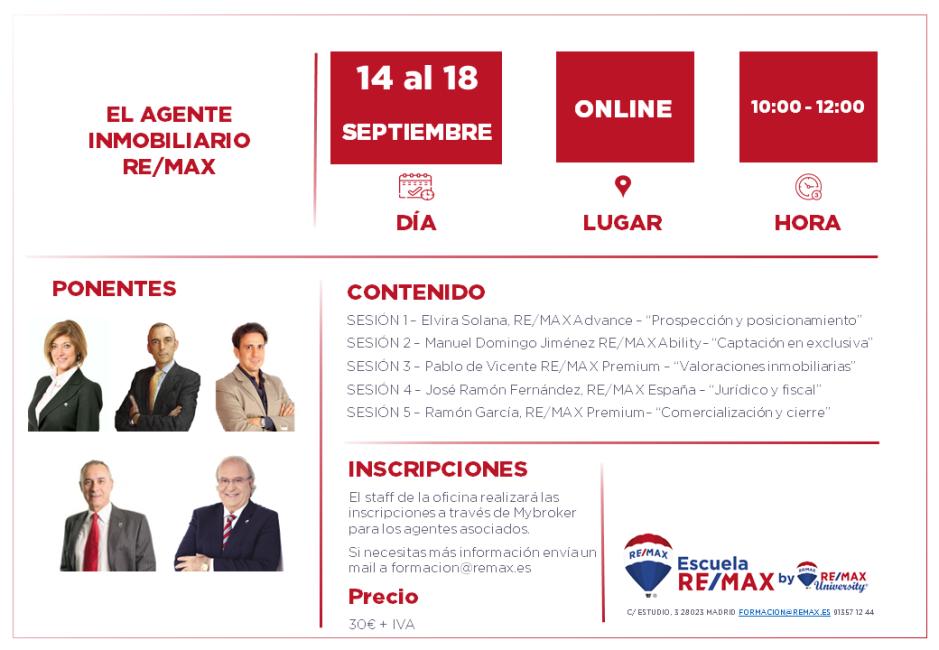 EL AGENTE INMOBILIARIO REMAX - septiembre 2020